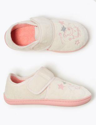 Kids' Peppa Pig™ Riptape Slippers (5 Small - 12 Small)