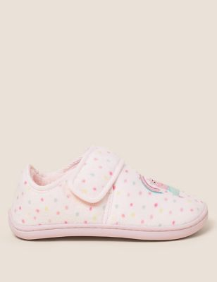 Kids' Riptape Peppa Pig™ Slippers (5 Small - 12 Small)