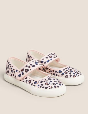 Kids' Leopard Print Riptape Mary Jane Shoes (5 Small - 12 Small)