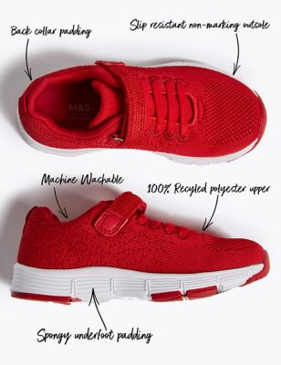 Kids Knitted Riptape Trainers (5 Small - 12 Small)