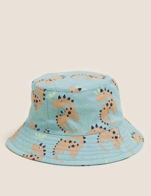 Kids' Pure Cotton Dinosaur Sun Hat (0-12 Mths)