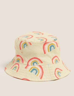 Kids' Pure Cotton Rainbow Sun Hat (0-12 Mths)