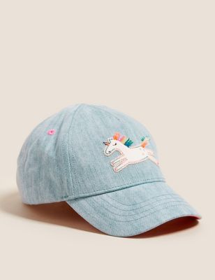 Kids' Denim Unicorn Baseball Cap (1-6 Yrs)