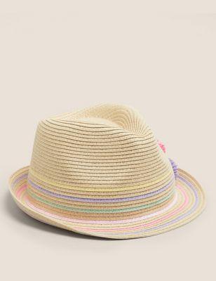 Kids' Straw Rainbow Sun Hat (12 Mths - 13 Yrs)