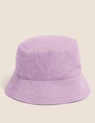 Kids' Cotton Plain Sun Hat (1-13 Yrs)