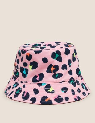 Kids' Pure Cotton Leopard Print Sun Hat (12 Mths - 13 Yrs)