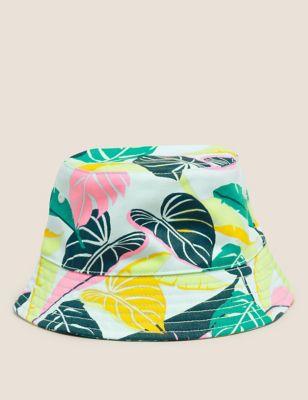 Kids' Pure Cotton Tropical Print Sun Hat (12 Mths- 13 Yrs)