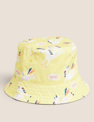 Kids' Pure Cotton Unicorn Print Sun Hat (12 Mths - 13 Yrs)