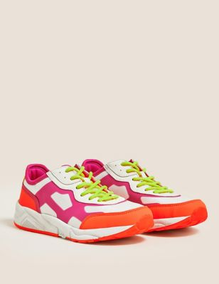 Kids' Chunky Neon Trainers (13 Small - 6 Large)