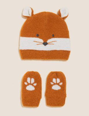 Kids' Animal Hat and Mitten Set (0-6 Yrs)