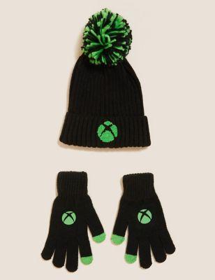 Kids' Xbox™ Hat and Glove Set (6-13 Yrs)