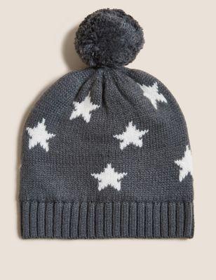 Kids' Cotton Star Winter Hat (0-12 Mths)