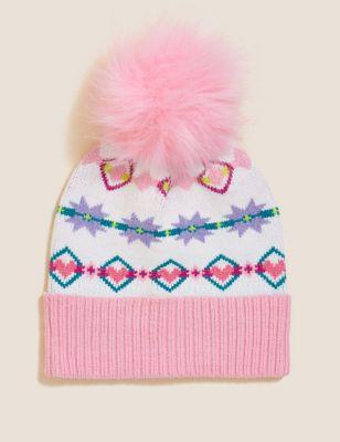 Kids' Patterned Winter Hat (1-13 Yrs)