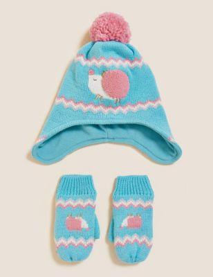 Kids' Hedgehog Hat and Mitten Set (12 Mths - 6 Yrs)