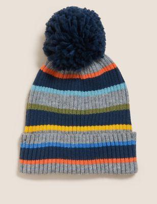 Kids' Striped Winter Hat (1-13 Yrs)
