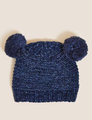 Kids' Cotton Pom Pom Winter Hat (0-6 Yrs)