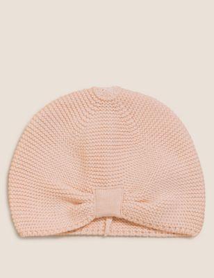 Kids' Pure Cotton Plain Winter Hat (0-12 Mths)
