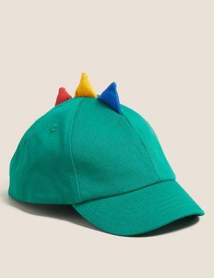 Kids' Pure Cotton Dinosaur Baseball Cap (1-6 Years)
