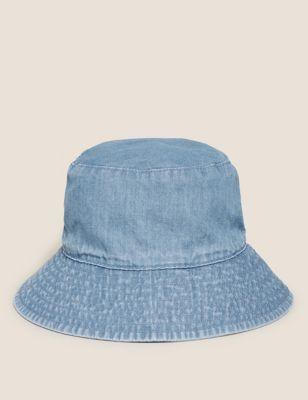 Kids' Pure Cotton Chambray Sun Hat (0-12 Mths)
