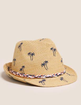 Kids' Straw Patterned Sun Hat (12 Mths-13 Yrs)