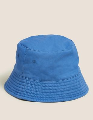 Kids' Pure Cotton Plain Sun Hat (12 Mths - 13 Yrs)