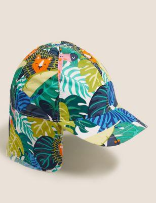 Kids' Pure Cotton Tropical Print Sun Hat (18 Mths - 6 Yrs)