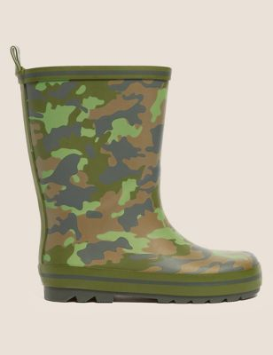 Kids' Camouflage Wellies (13 Small - 7 Large)
