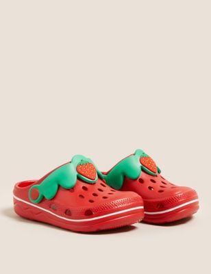 Kids' Strawberry Clogs (5 Small - 12 Small)
