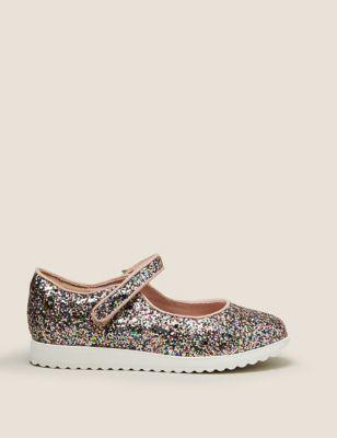 Kids' Riptape Glitter Mary Jane Shoes (5 Small - 12 Small)