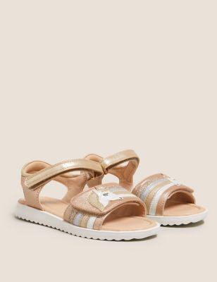 Kids' Metallic Unicorn Riptape Sandals (5 Small - 12 Small)