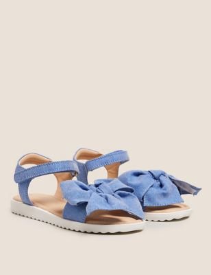 Kids' Riptape Bow Sandals (5 Small - 12 Small)