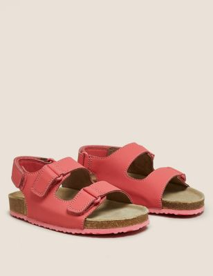 Kids' Riptape Leather Footbed Sandals (5 Small - 12 Small)