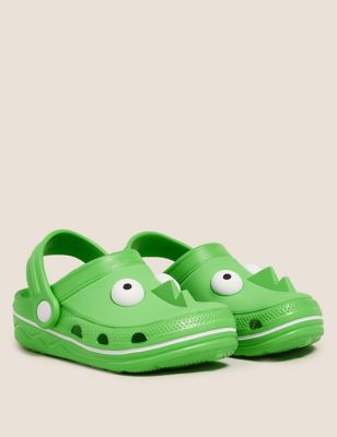 Kids' Green Monster Clogs (5 Small - 12 Small)