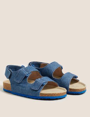Kids' Denim Riptape Sandals (5 Small - 12 Small)