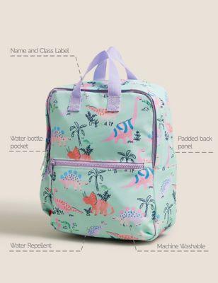 Kids' Water Repellent Dinosaur Nursery Backpack