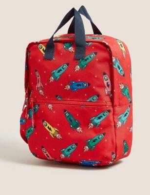 Kids' Water Repellent Rocket Nursery Backpack