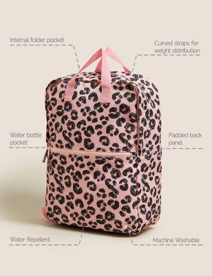 Kids' Water Repellent Leopard School Backpack