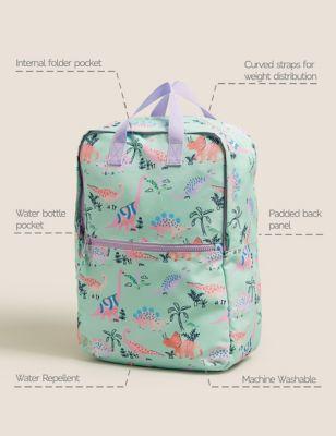 Kids' Water Repellent Dinosaur School Backpack