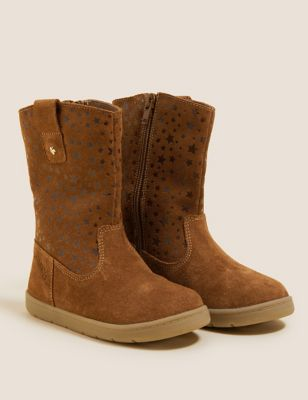 Kid's Suede Star Boots (4 Small - 12½ Small)