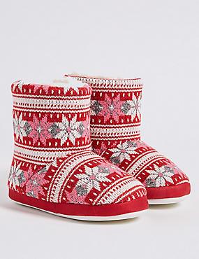 Kids' Fairlise Slippers, RED, catlanding