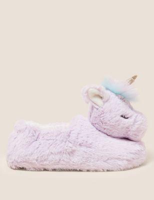 Kids' Unicorn Slippers (5 Small - 6 Large)
