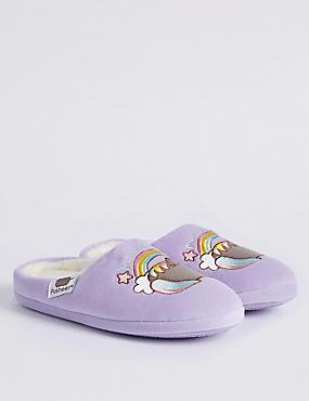 Kids' Slip-on Pusheen Slippers, LILAC, catlanding