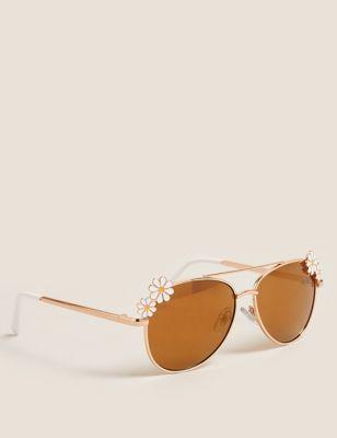 Kids' Daisy Aviator Sunglasses