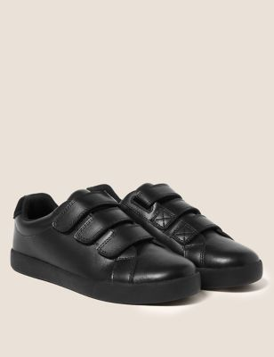Kids' Leather Riptape School Shoes (13 Small- 9 Large)