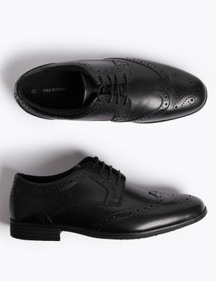 Kids' Leather Freshfeet™ Brogues (13 Small - 9 Large)