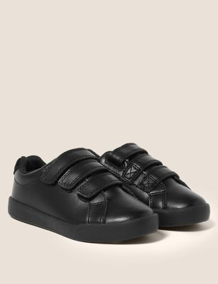 Kids' Leather Freshfeet™ Trainers (8 Small - 1 Large)