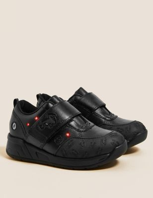 Kids' Leather Light-Up Spirdeman School Shoes (8 Small - 1 Large)