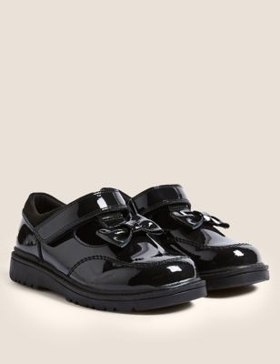 Kids' Leather T-Bar School Shoes (8 Small - 1 Large)