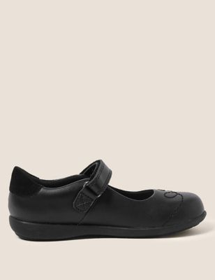 Kids' Leather Flashing Light School Shoes (8 Small -1 Large)