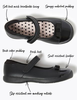 Kids' Leather Freshfeet™ School Shoes (8 Small - 1 Large)